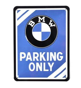 BMW Parking Only small metal sign 200mm x 150mm (na)